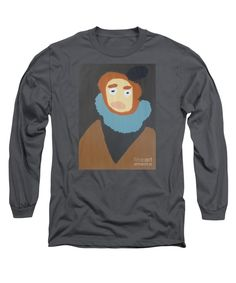 Patrick Long Sleeve T-Shirt featuring the painting Portrait Of Maria Anna 2015 - After Diego Velazquez by Patrick Francis