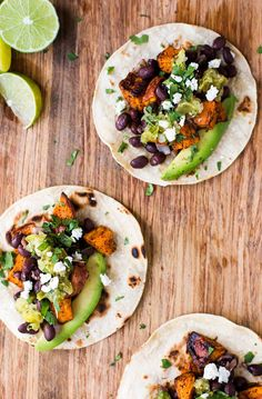 Turn sweet potatoes and black beans into a simple, healthy dinner with these tacos! Takes only 30 minutes to make! #glutenfree #vegetarian