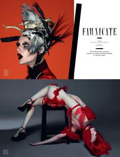 "Guinevere van Seenus and Julia Nobis in ""Fawnicate"" by Mert and Marcus for Love Magazine N.8 F/W 2012"