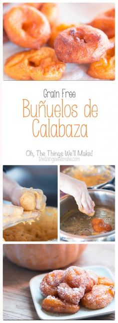 These pumpkin fritters are very popular in the Valencia region of Spain, especially during Carnavál & Fallas; Learn to make grain free buñuelos de Calabaza.