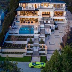 152 most popular modern dream house exterior design ideas – page 6 Dream Home Design, Modern House Design, My Dream Home, Life Design, Bungalow Exterior, Dream House Exterior, Dream Mansion, Mansion Houses, Luxury Homes Dream Houses