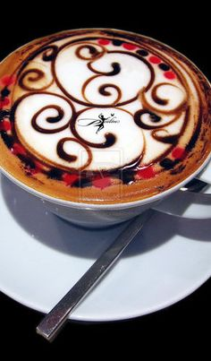 The Most Satisfying Cappuccino Latte Art - Coffee Brilliant Coffee Latte Art, I Love Coffee, Coffee Break, My Coffee, Coffee Drinks, Coffee Cups, Cappuccino Art, Chocolate, Coffee Design