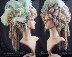 Vintage Hairstyles, Wig Hairstyles, Wedding Hairstyles, Updo Hairstyle, Halloween Wigs, Halloween Cosplay, Halloween 2019, Halloween Ideas, Costume Marie Antoinette