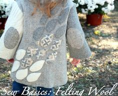 upcycled wool sweaters into little girls coat super leuk!