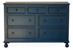 Beside-the-Sea Double Dresser, Slate