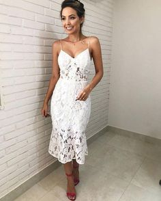 Mermaid Tea Length White Lace Party Dresses,Prom Dresses,Evening Dresses,Special Occasion Dresses sold by Dressmeet. Lace Party Dresses, Lace Dress, Evening Dresses, Wedding Dress, Dress Up, Formal Dresses, Bridal Shower Dresses, White Bridal Shower Dress, Dress Party