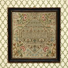 sampler, beautiful composition of elements