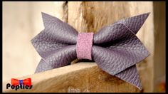 FREE SHIPPING Angled PURPLE leather bow tie by Popties on Etsy, €10.20