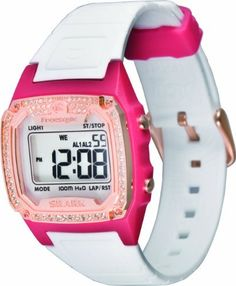 Freestyle Women's FS84896 Shark Classic Bling Digital Watch Freestyle. $51.84. Night vision backlight. Stopwatch, 2 alarms, countdown heat timer. Digital-Quartz movement. Water-resistant to 330 feet (100 M). Polyurethane strap with adjustable buckle. Save 42% Off!