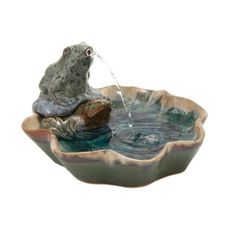 Woodland Imports Ceramic Frog Fountain