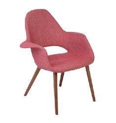 Image of Replica Eero Saarinen Organic Chair (Red tweed) #ຕັ້ງອີ້ນວມ