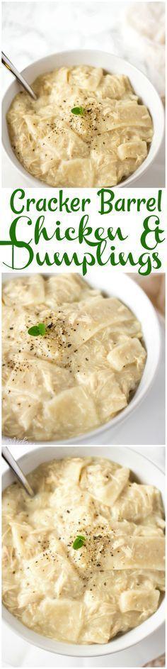 Cracker Barrel Chicken & Dumplings #ComfortFood #CopyCat #Recipe