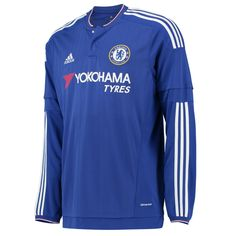 The long sleeves make the 2015-16 Adidas Chelsea home jersey look better. Get your new CFC jersey today and cheer them on as they defend their title.  http://www.soccercorner.com/Adidas-Chelsea-Home-15-16-Long-Sleeve-Jersey-p/tt-ads11676.htm