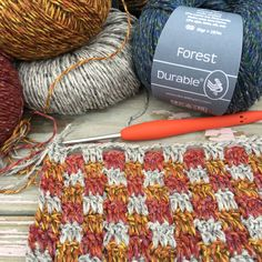 Durable Forest is made from acrylic, merino wool and silk giving it a luxurious appearance. It comes in 12 beautiful flecked shades Yarns, Merino Wool, Grid, Things To Come, Stitch, Crochet, Full Stop, Ganchillo, Crocheting