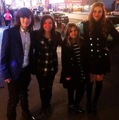 Chandler Riggs (Carl), Katelyn Nacon (Enid), Kyla Kennedy( Mika), and Madison Lintz (Sophia).