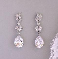 Crystal Drop Earrings Crystal Chandelier Bridal Earrings   Etsy