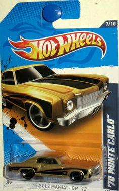 1970 chevy monte carlo 2012 hot wheels muscle mania 710 gold kmart nov - Rare Hot Wheels Cars 2012