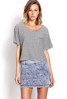 Acid Wash Mini Skirt | FOREVER21 - 2000070313