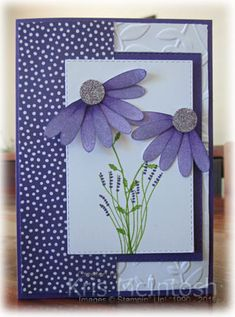 Handmade Stampin Up HAPPY BIRTHDAY Greeting CARD KIT Hydrangea Flowers Postcard