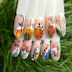 Colorful Nail Designs, Gel Nail Designs, Colorful Nails, Nail Art Hacks, Gel Nail Art, Acrylic Nails, Nailart, Tribal Nails, Short Nails Art