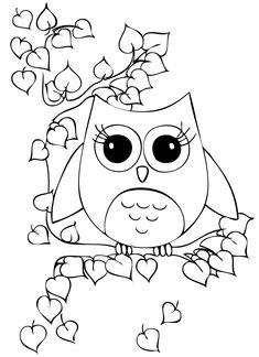 Coloring Pages coloring pages owls , owl coloring page printable , owl ...