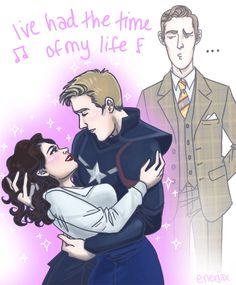 @HayleyAtwell, Chris Evans, and James D'Arcy being perfection :B