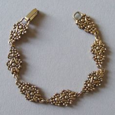 Image detail for -glitterbug vintage jewelry old bracelet with leaves and berries motif