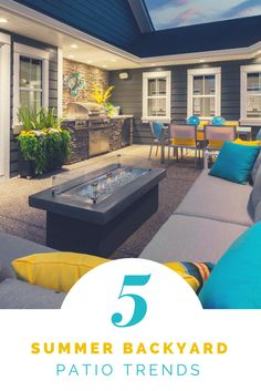 To help modernize your patio and prepare it for the season, we have put together the top 5 patio design trends for this summer.