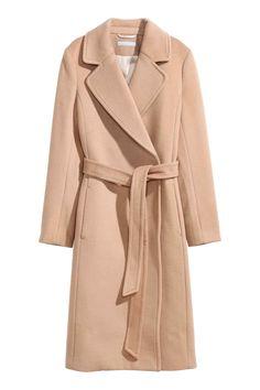 Wool-blend coat - Camel - Ladies | H&M 99euro