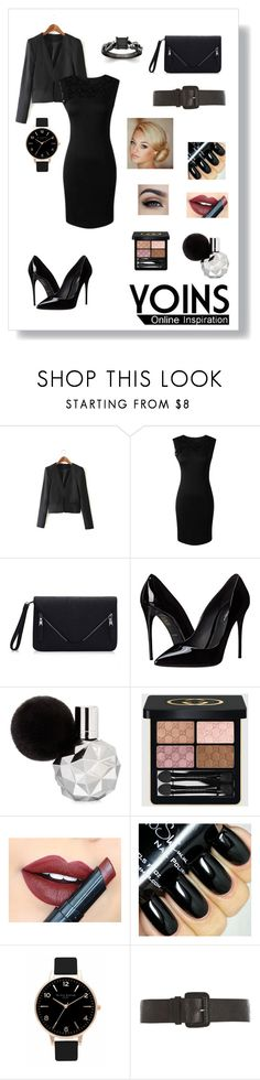 """""""Yoins Blazer Challenge"""" by balletlover15 ❤ liked on Polyvore featuring Dolce&Gabbana, Gucci, Fiebiger, Olivia Burton, Dorothy Perkins, women's clothing, women, female, woman and misses"""