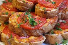 """Hot sandwich """"Lazy pizza"""" Ingredients: Baton Classic - 1 pc Cheese - 250 g Cooked sausage - 300 g Tomatoes - 2 pieces Greens - each, to Hot Sandwich Recipes, Pizza Ingredients, Good Food, Yummy Food, How To Cook Sausage, Breakfast Pizza, Creative Food, Food To Make, Sandwiches"""
