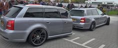 Audi RS4 Avant B5 with RS4-Shaped Trailer Finally Filmed, Looks Extremely Odd - Video