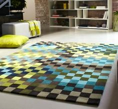 Esprit Pixel Green Blue Taupe Rugs Online At Modern Uk