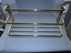 """Brass Towel Rack, by Cifial, """"Broadway"""" style, Made In Portugal by antiquesplusmore on Etsy"""