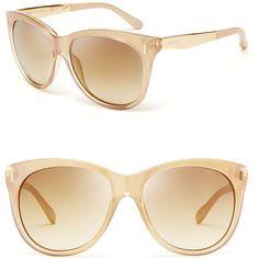 Jimmy Choo Ally Mirror Wayfarer Sunglasses found on Polyvore