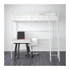 IKEA TROMSÖ loft bed frame The ladder mounts on the right or the left side of the bed.