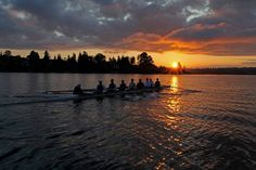 There's nothing like watching the sun rise over the river with your boat perfectly set and gliding through the water. #rowing #crew