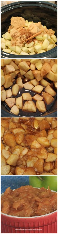 Crock Pot Apple Sauce-full of natural flavor and spices