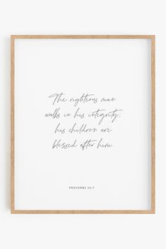 Christian Father's Day Gift Idea, Gift for Dad Scripture, Father's Day Bible Verse, Christian Bible Verse Gift for Dad. Easily print at home and frame! #FathersDay #FathersDayBibleVerse #FathersDayGift