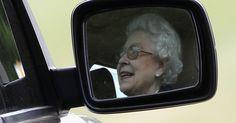Queen Elizabeth Drives Her Jaguar From Church  HuffPost