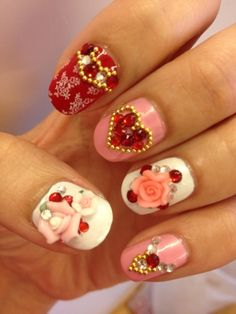1000 images about nails on pinterest nail art heart for 3d nail art salon new jersey