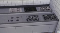 Smaller functional Counter Top Stove by necrodog at Mod The Sims via Sims 4 Updates
