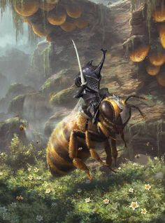 Bee knight, qiang zhou on ArtStation at https://www.artstation.com/artwork/l608Y