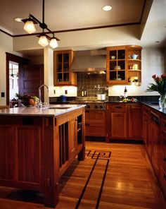 Traditional Kitchen Photos Craftsman Style House Plans Design, Pictures, Remodel, Decor and Ideas - page 4 love the floor!