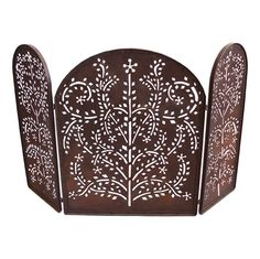 Pierced Iron Fire Screen