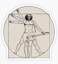 """Vetruvian Rock Star "" Stickers by Jessica Bone Stickers Cool, Band Stickers, Guitar Stickers, Tumblr Stickers, Printable Stickers, Laptop Stickers, Spongebob Birthday Party, Aesthetic Stickers, Sticker Design"