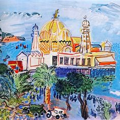 The Casino of Nice by Raoul Dufy. Heart, thoughts and prayers with beautiful Nice.