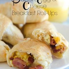 Bacon, Egg and Cheese Breakfast Roll-Ups