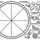 Free! Pizza template. Use it in the ESL classroom to study food vocabulary or in the mainstream classroom for a fractions lesson. Or just for fun!! ...