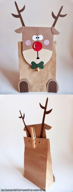 25 Creative Decorating Ideas for Wrapping Unique Gifts Noel Christmas, Christmas Crafts, Christmas Ornaments, Reindeer Christmas, Creative Gift Wrapping, Creative Gifts, Wrapping Ideas, Unique Gifts, Diy Projects For Kids
